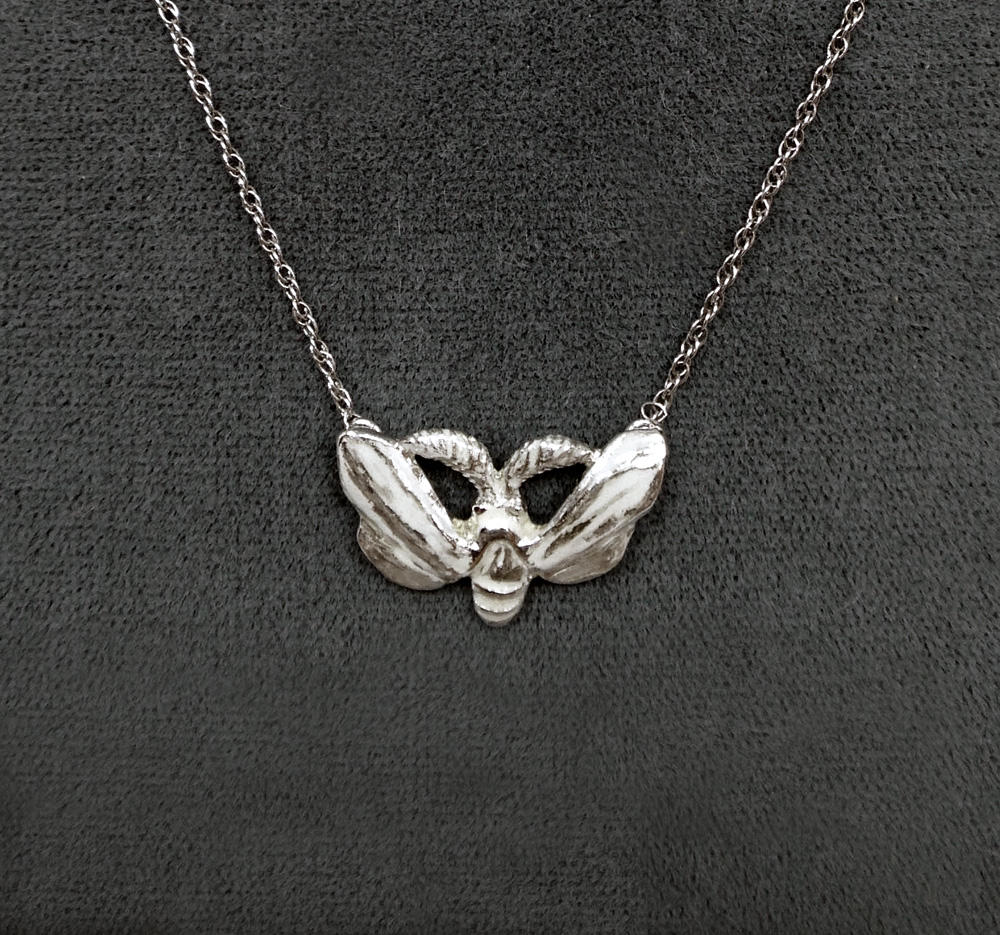 Sterling silver moth necklace moth necklace biocorpaavc Choice Image
